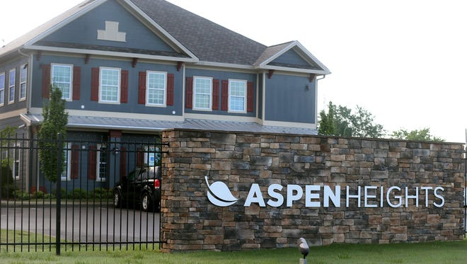 Aspen Heights, the site of a shooting at a party where several people were injured early Sunday morning, May 1, 2016.