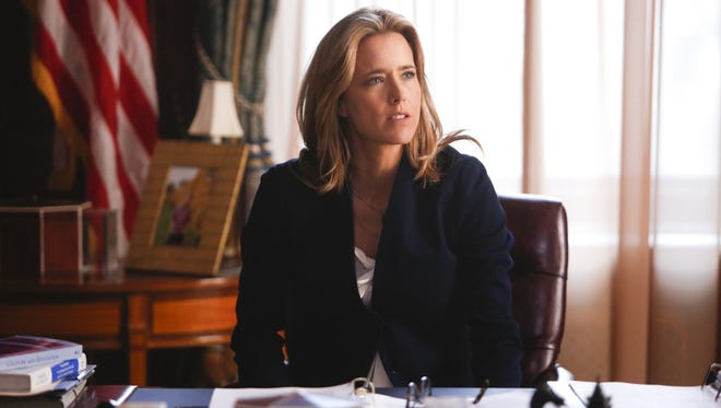 "This CBS image shows Tea Leoni as Elizabeth McCord, the shrewd, determined, newly appointed secretary of State in ""Madam Secretary."""