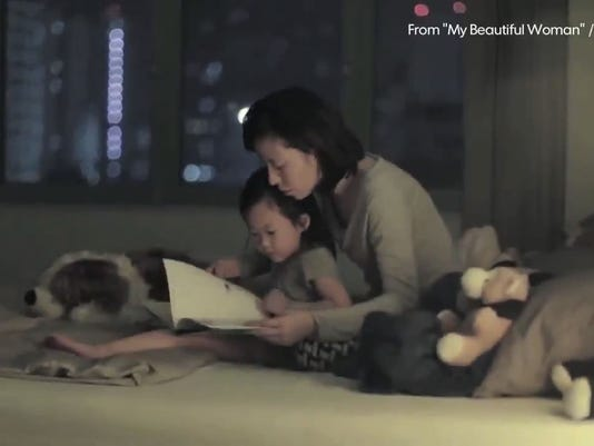 Mother and daughter in viral ad
