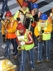 Broomall String Band, based in National Park in Gloucester  County, performs in the Mummers Parade on New Years Day 2016.