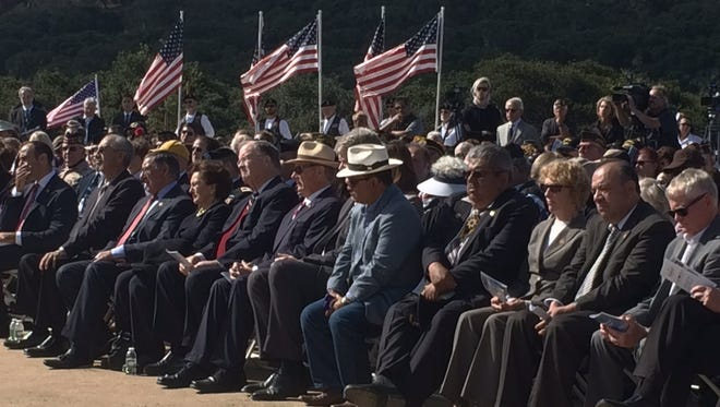 Elected officials at California Central Coast Veterans Cemetery opening on Tuesday morning.