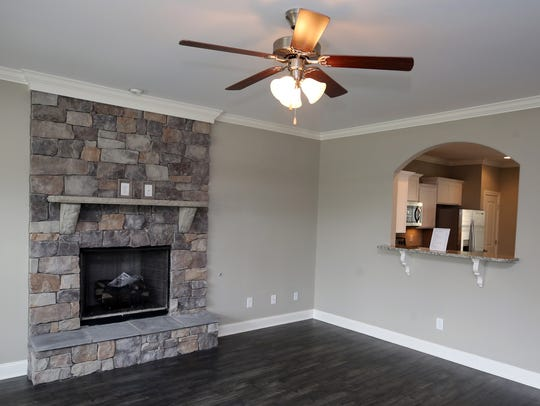 Living room in the model home for Ole South's new subdivision