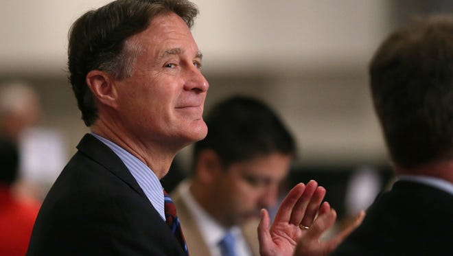 Evan Bayh attended the Indiana Black Expo's corporate luncheon at the Indiana Convention Center on July 15, 2016.