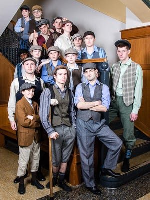 """Bluelight Players will present """"Newsies"""" 7 p.m. Fridays and Saturdays, 4 p.m. Sundays, March 1-10, at the White Auditorium in the Hannah Center."""