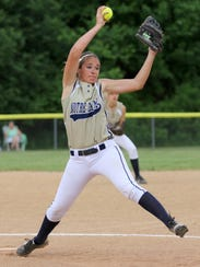 Junior pitcher Alivia Clark, shown pitching against