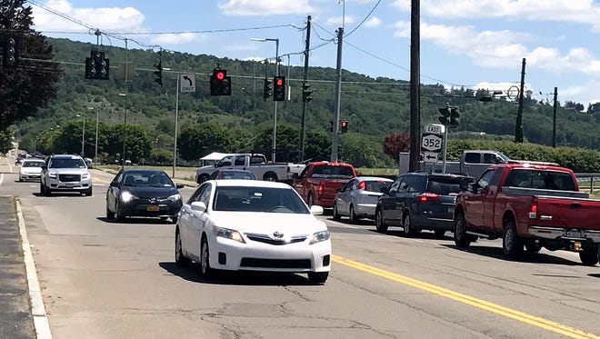 Water Street is one of the thoroughfares in Elmira that city officials want to make safer for bicyclists and pedestrians.