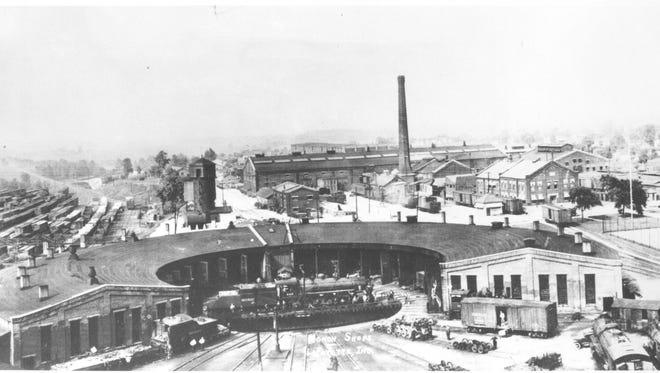 Lafayette's Monon Shops circa 1923.