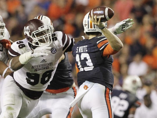John Reed/USA TODAY Sports Mississippi State junior Chris Jones has 30 tackles and four for loss this season. Mississippi State junior Chris Jones has 30 tackles and four for loss this season.