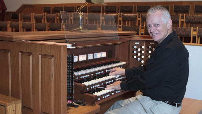 """Suntree Methodist Church organist Tom Taylor provides the live music for the Sept. 12 screening of the silent film """"The General"""" at Suntree United Methodist Church."""