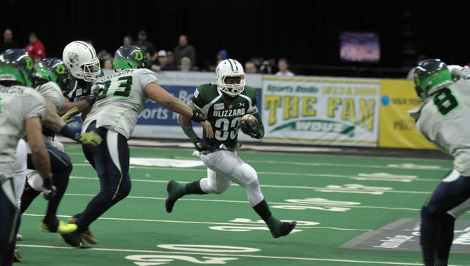 The Green Bay Blizzard return a number of key players from last year, including running back Keshaudas Spence.