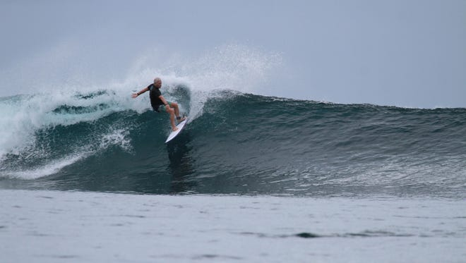 Duane De Freese surfs at the Hideaways in the Mentawai Islands.