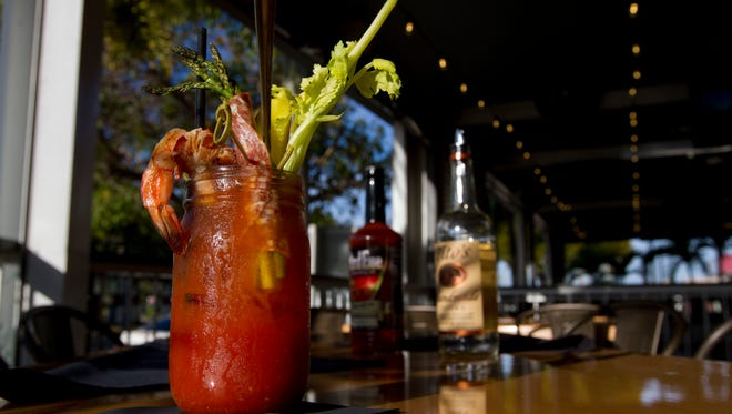The signature Bloody Mary available at Cork Soakers Deck & Wine Bar in Cape Coral.
