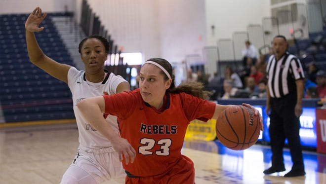 Saddle River's Micehlle Sidor drives to the basket in first half action. Rutgers Prep vs Saddle River Day girls basketball in NJSIAA Non-Public B Girls final in Toms River on March 10, 2018