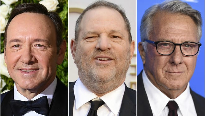 Kevin Spacey, Harvey Weinstein and Dustin Hoffman have all been hit with claims of sexual harassment or assault.