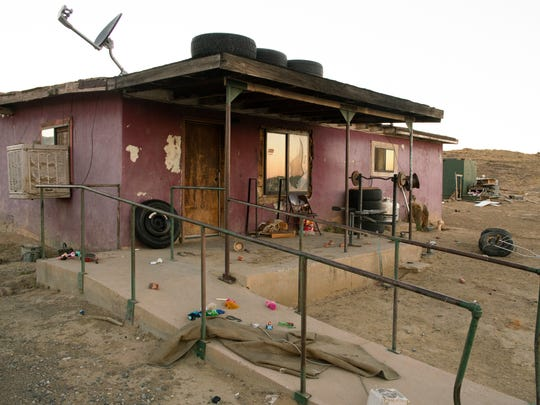 A home in the Navajo Nation near Newcombe, 25 miles south of Shiprock.