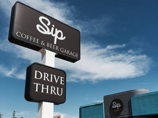 The new Sip Coffee & Beer garage borrows from its sister location in Scottsdale for craft drinks, small bites and sandwiches, and an urban industrial decor.
