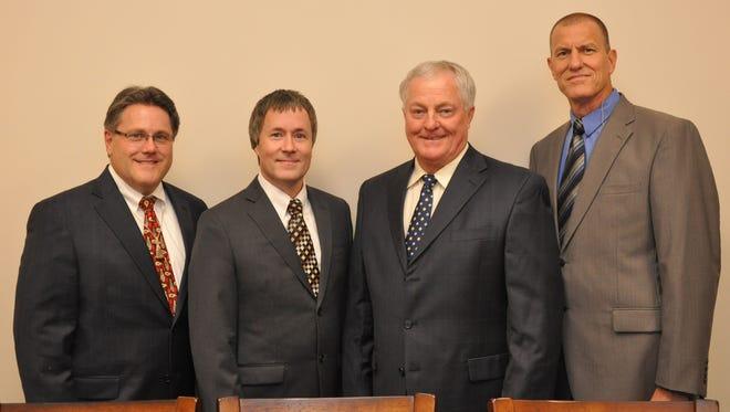 Sanctuary Quartet is Waylon Trisler, Troy Richards, Jimmy Strong and Ricky Singley.