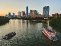 Visitors enjoy sunset cruises to see Austin's famed bats on Lady Bird Lake