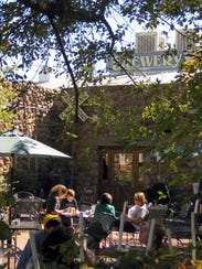 Beaver Street Brewery in Flagstaff has a shady patio.