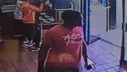 Cincinnati police are searching for a robbery suspect.
