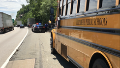 A school bus was involved in a collision on Route 287