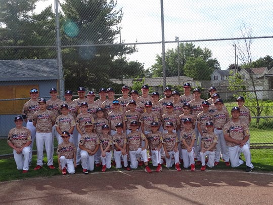 Five Athletics Baseball Association teams are wearing commemorative Fallen Heroes jerseys during tournaments this weekend.