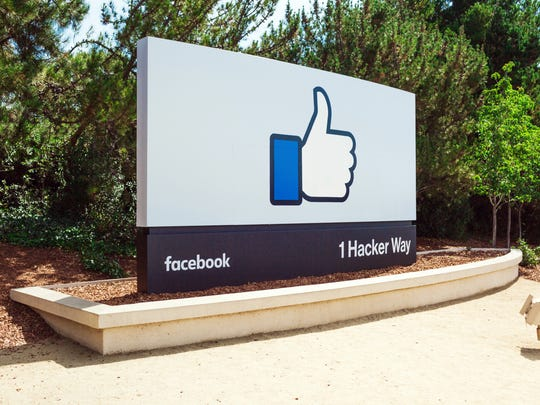 A sign at Facebook's headquarters