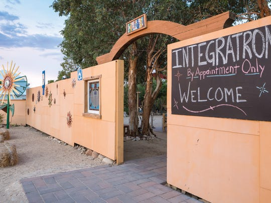 The entrance to the Integratron.