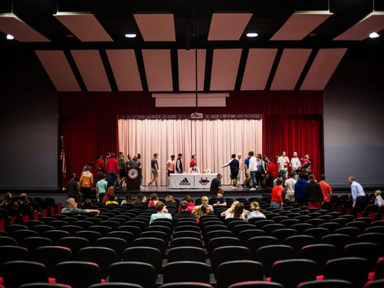 The Alexander Auditorium, Palmetto's newly renovated auditorium that was dedicated to the late Fred Alexander, is photographed on Wednesday, February 1, 2017 in Williamston.