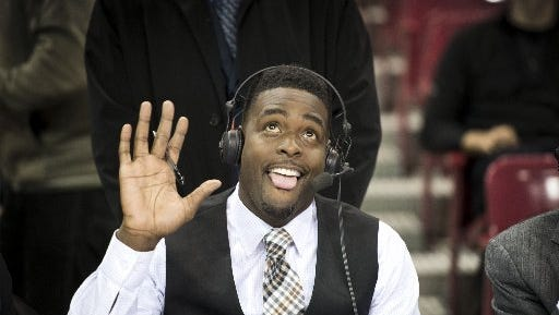 Former Michigan star Chris Webber now makes his living as an NBA broadcaster.