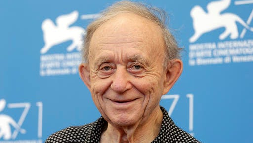 FILE - In this Aug. 29, 2014, file photo, Frederick Wiseman poses for photographers during the photo call for the Golden Lion Career Award during the 71st edition of the Venice Film Festival in Venice, Italy. On Saturday, Nov. 12, 2016, Wiseman will be awarded an honorary Academy Award from the film academy's Board of Governors.