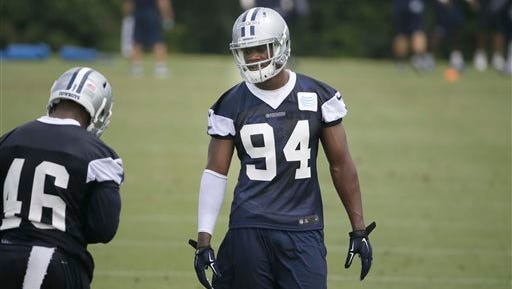 Dallas Cowboys defensive end Randy Gregory can return to practice on Wednesday.
