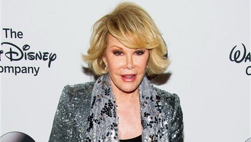 Joan Rivers died today.