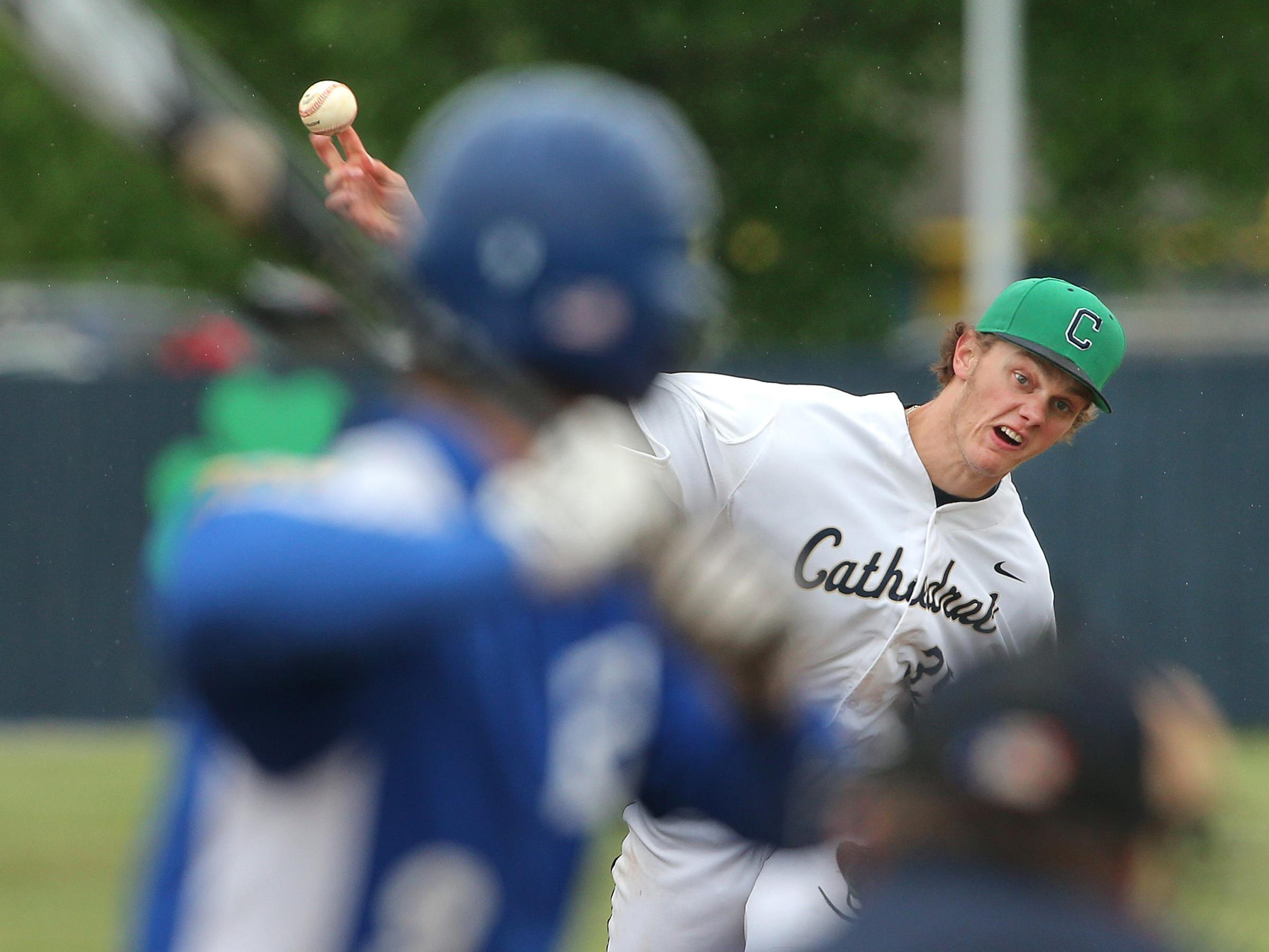 FILE -- Ashe Russell, formerly of Cathedral High School, has started his pro career in the Kansas City Royals organization. He's currently a teammate of former Lawrence North pitcher Nolan Watson.