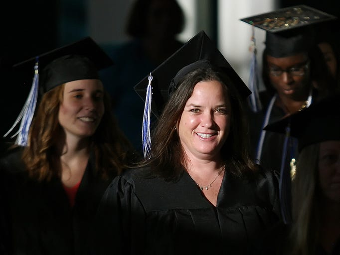 Mary Bragg was among the 140 Keiser University students who graduated Friday during the university's commencement at the Harborside Event Center in downtown Fort Myers.