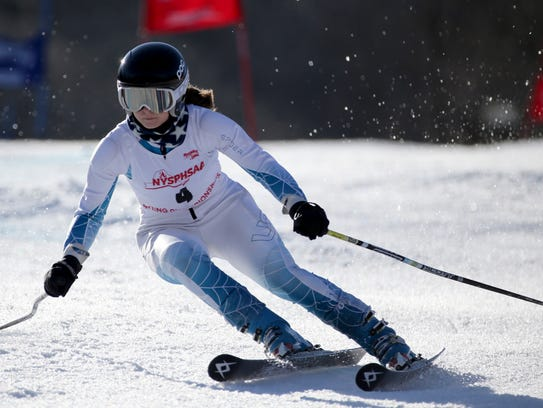 Katie Carrier of Victor at New York State Alpine Skiing