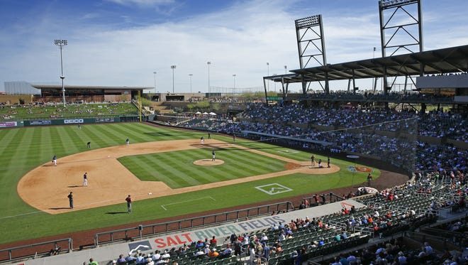 Salt River Fields at Talking Stick is the spring training home for the Arizona Diamondbacks.