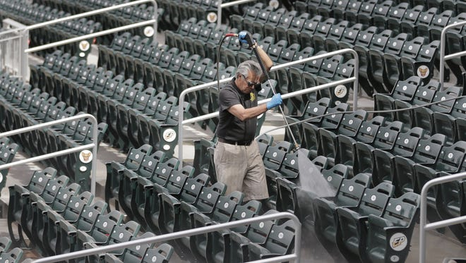 The El Paso Chihuahuas are putting the finishing touches on Soutwest University Park for Thursday's exhibition game between the San Diego Padres and their AAA affiliate the El Paso Chihuahuas. The team's regular season begins the following Thursday in Reno. The team's first home series is against Reno on April, 15.