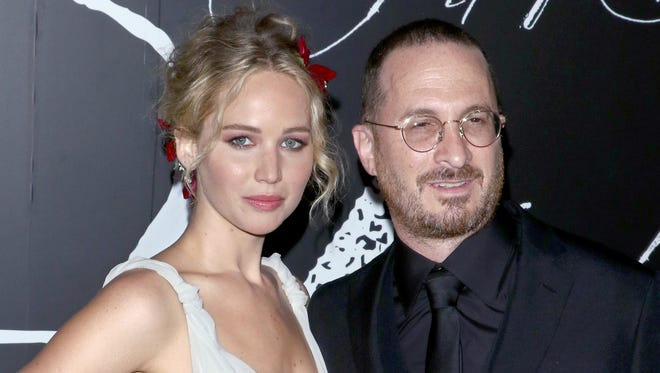 Jennifer Lawrence and Darren Aronofsky hit the red carpet together for 'mother!' premiere.