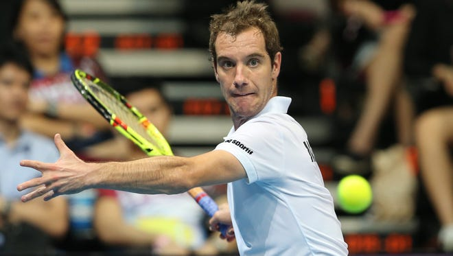 France's Richard Gasquet aggravated a back injury while playing in exhibitions this month and has withdrawn from the Australian Open.