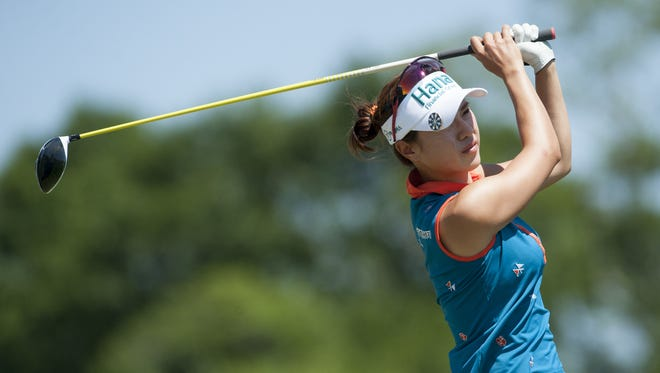 Hee Young Park during round four of the Yokohama Tire LPGA Classic at the Robert Trent Jones Golf Trail in Prattville on May 8, 2016. RTJ at Capitol Hill was rated one of the 10 public courses in America worthy of Hosting the U.S. Open by Golf Magazine.