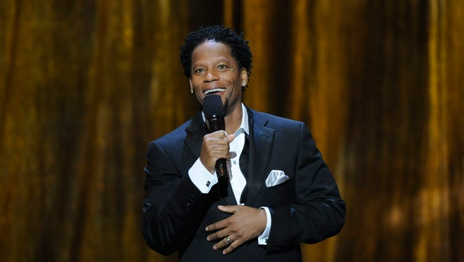 Comedian D.L. Hughley hosts the 39th NAACP Image Awards on Feb. 14, 2008, in Los Angeles.