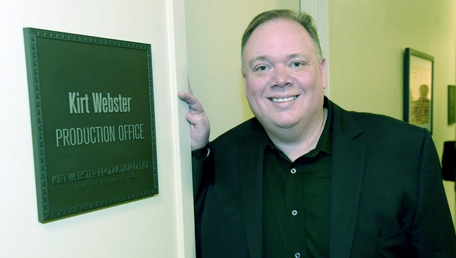 Kirt Webster stands backstage at the CMA Theater during the announcement of new members of the Country Music Hall of Fame on March 25, 2015, in Nashville.