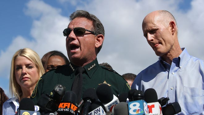 Broward County Sheriff Scott Israel in Parkland, Fla., on Feb. 15, 2018.