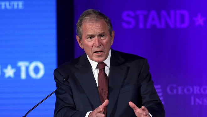 Former U.S. President George W. Bush speaks during a conference at the U.S. Chamber of Commerce June 23, 2017 in Washington, D.C.