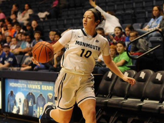 Monmouth junior forward Dana Carbone from Toms River is one of the returning players the  Hawks will be counting on this season.
