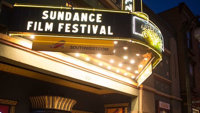 A general view of the Egyptian Theatre on Main Street during the Sundance Film Festival in Park City, Utah.