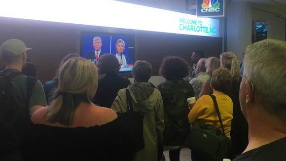 debate at CLT airport