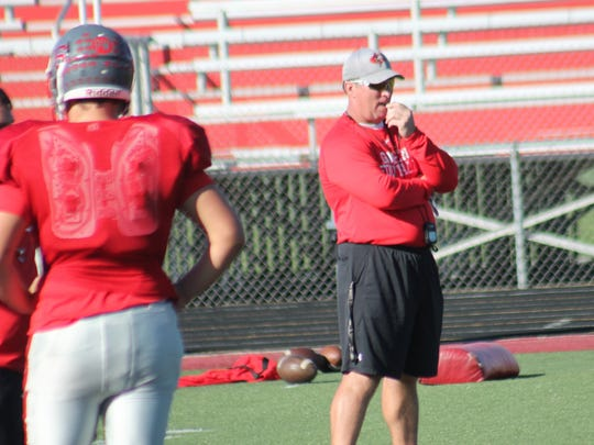Goshen coach Ryan George is in his fourth season as head coach of the Warriors.