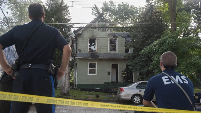 Crews responded to a twin-story house fire on 39th Street in Pennsauken Thursday morning.